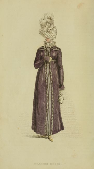 1815 v13 Ackermann's fashion plate 13 - Walking Dress with bonnet