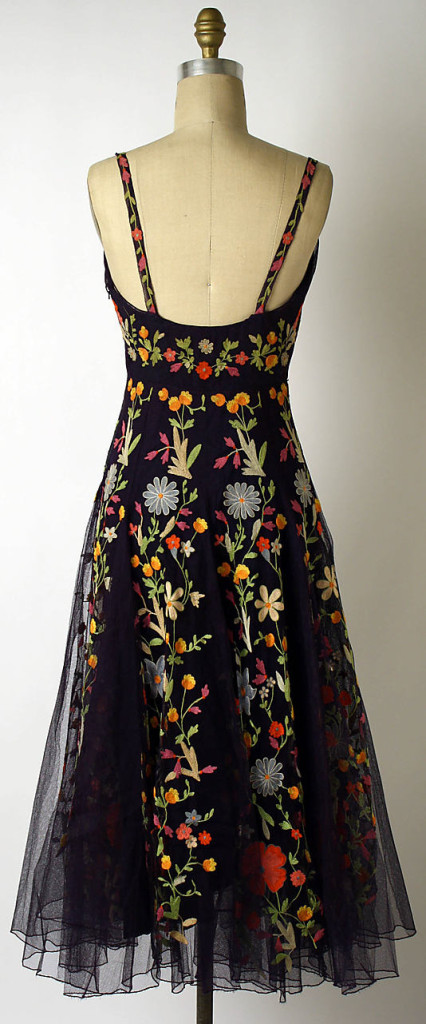 Cocktail dress, Hattie Carnegie, Inc. (American, 1918–1965) 1940s, American, silk, Metropolitan Museum of Art 1994.153
