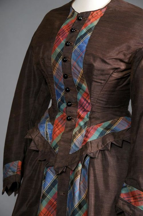 Dress, late 1860s, Shippensburg University Fashion Collection