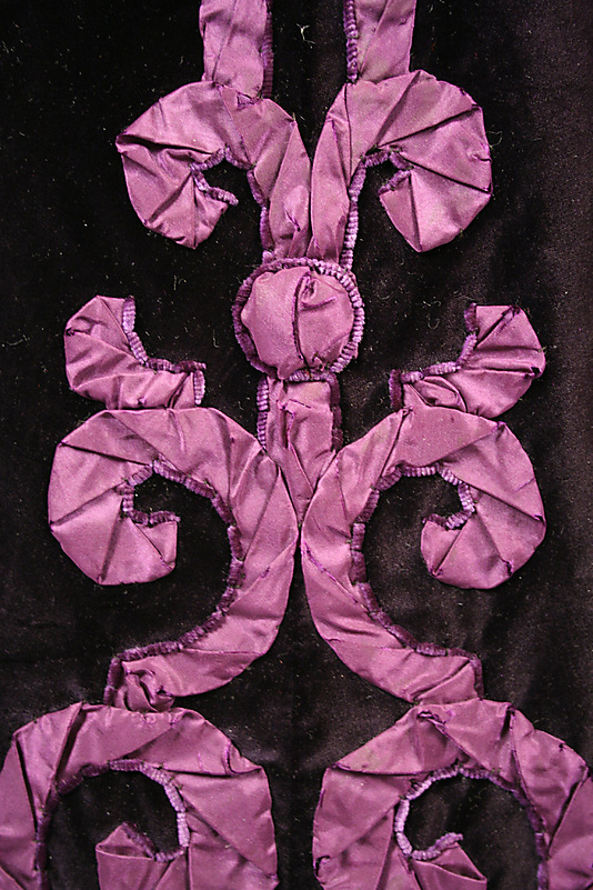Evening suit, House of Paquin (French, 1891–1956), detail, late 1890s, silk, Metropolitan Museum of Art, C.I.48.70.1ab_F