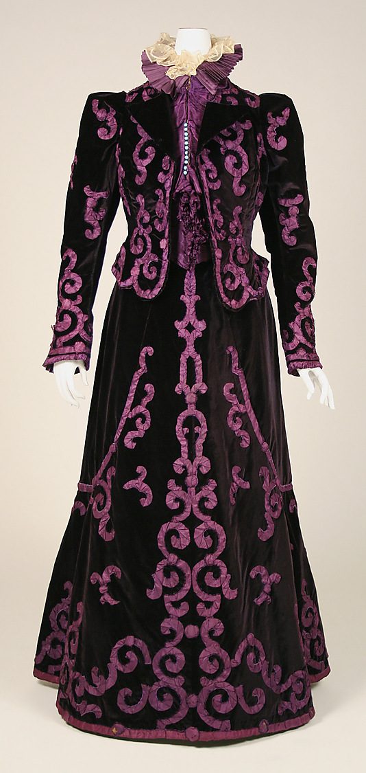 Evening suit, House of Paquin (French, 1891–1956), late 1890s, silk, Metropolitan Museum of Art, C.I.48.70.1ab_F