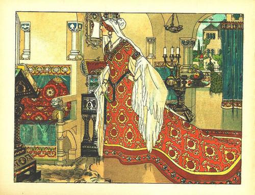 Franz Jüttner (1865–1925)- Illustration from Schneewittchen, Scholz' Künstler-Bilderbücher, Mainz 1910 2