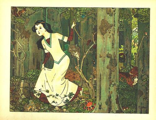 Franz Jüttner (1865–1925)- Illustration from Schneewittchen, Scholz' Künstler-Bilderbücher, Mainz 1910