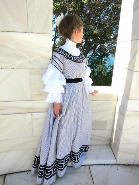 The 1905 Greek Key afternoon dress, thedreamstress.com