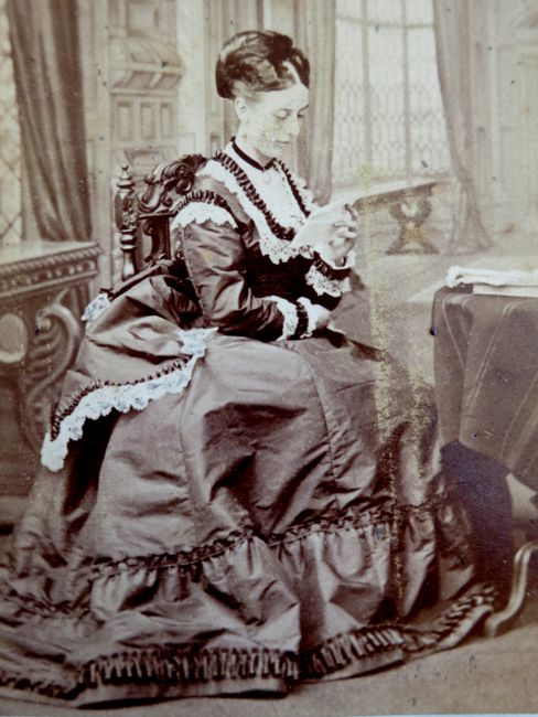 Unidentified woman, ca. 1870, by Arthur J Melhuish, thedreamstress.com