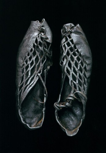Iron Age shoes (ca. 400 BC-400 CE) found on body found in European bog