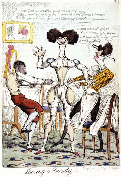 Lacing a Dandy, 1819