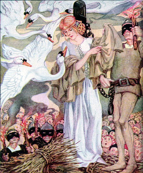 Old, Old Fairy Tales- The Swan Princes by Anne Anderson