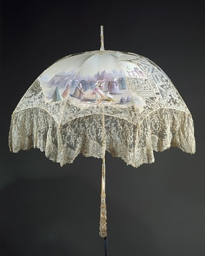 Parasol, ca 1896, French, silk and ivory, Metropolitan Museum of Art, 1983.102a–e