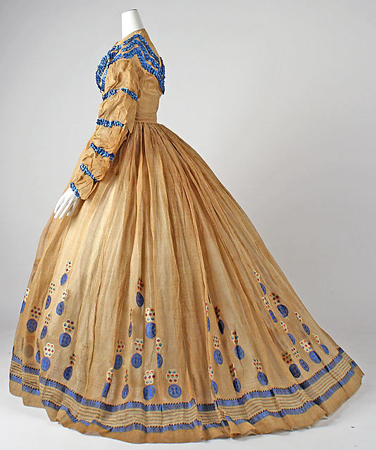 Dress, ca. 1865, American, cotton, C.I.67.37.1 Metropolitan Museum of Art