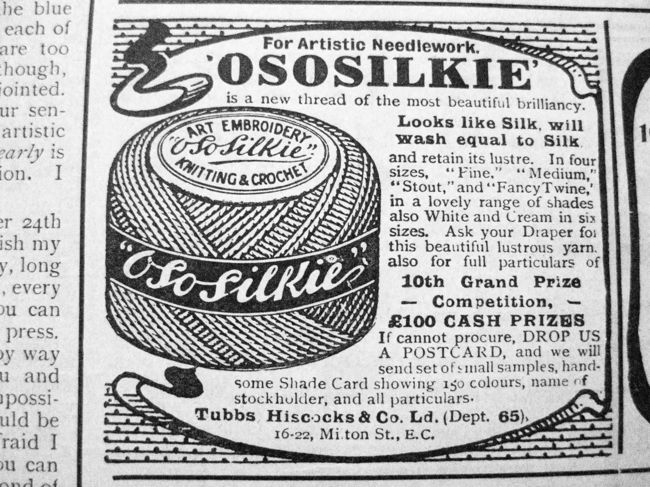 Ad for Ososilkie, Girls Own Paper, 1911, thedreamstress.com