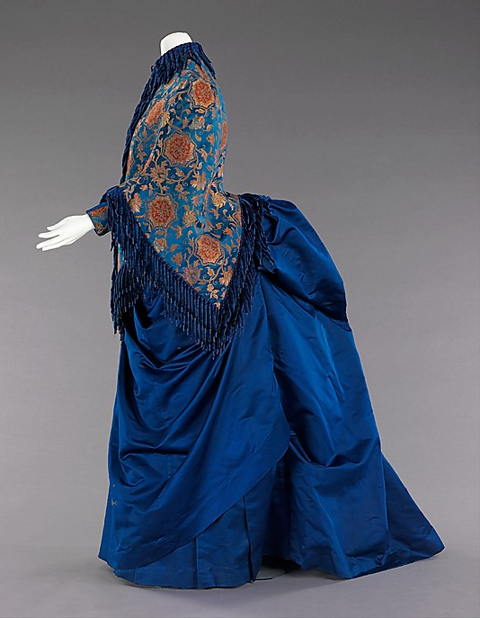 Afternoon ensemble, 1885–88, American, silk, metal, Metropolitan Museum of Art, 2009.300.2033a-e