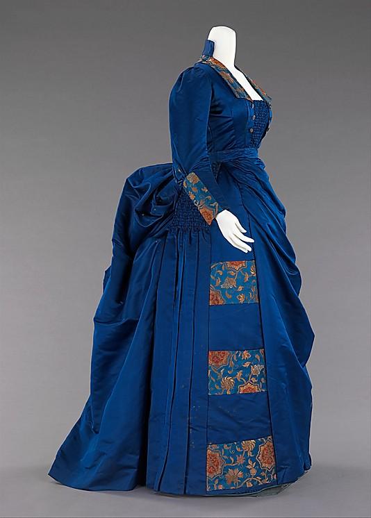 Afternoon ensemble, 1885–88, American, silk, metal, Metropolitan Museum of Art, 2009.300.2033a-e