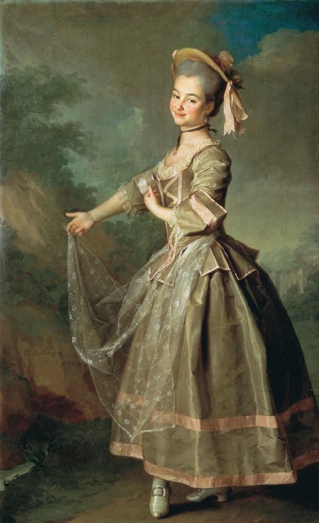 Dancing girl, Levitsky Dmitry G. (1735-1822)