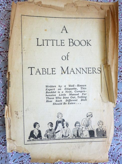 !930s table manners thedreamstress.com