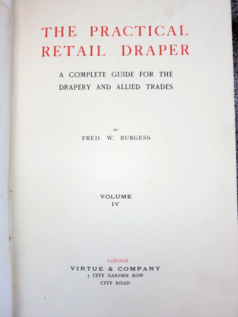 The Practical Retail Draper, 1910s thedreamstress.com
