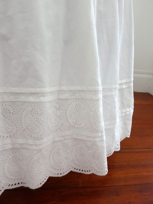 Replica ca. 1860s paisley embroidered petticoat thedreamstress.com
