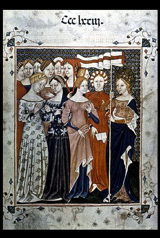 St. Ursula and Companions, 14th century, Italian