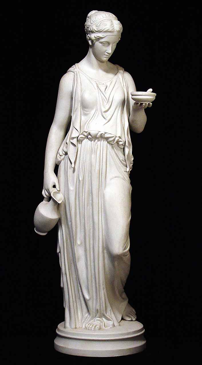 19th century ceramic reproduction of an ancient Greek statue