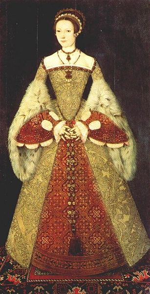 Catherine Parr in a skirt supported by farthingales, by Master John, 1545, National Portrait Gallery, London