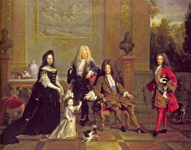 Louis XIV and heirs with the royal governess, Formerly attributed to Nicolas de Largillière, now unknown, circa 1710