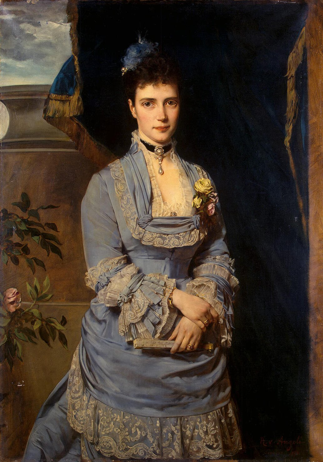 Portrait of Grand Duchess Maria Feodorovna (1847-1928) by Heinrich von Angeli (1840-1925), circa 1874, Collection of the Hermitage