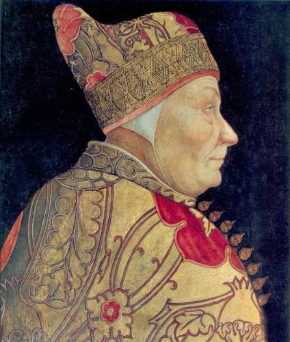 Portrait of the Venecian Doge Francesco Foscari, ca. 1457–1460 or mid to late 1470s, Lazzaro Bastiani (1430–1512), Museo Civico Correr, Venice
