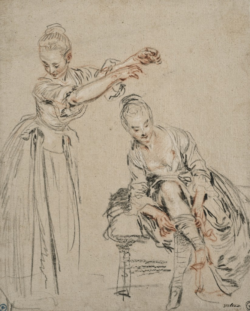 Sketch by Watteau