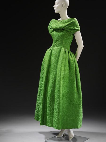 Evening dress, Paris, France, ca. 1955, Givenchy, Silk matelasse brocade, Victoria & Albert Museum, T.270 to B-1975