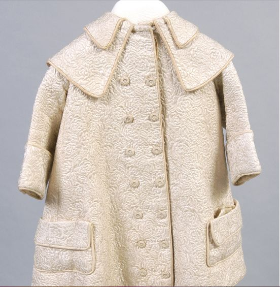 Girl's Coat, American, 1900, silk matelassé; silk faille cording, Philadelphia Museum of Art, 1955-46-1