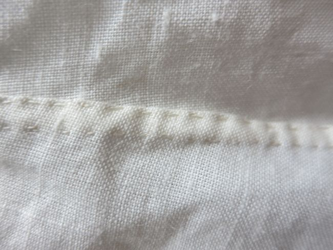 Smock of raime (nettle) fabric thedreamstress.com