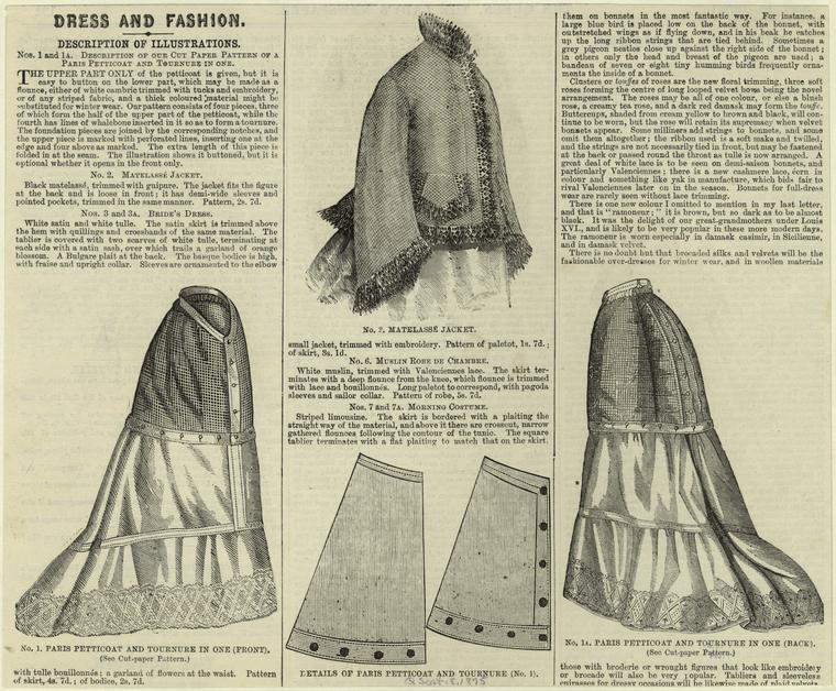 Matelasse jacket, 1875, from The Queen