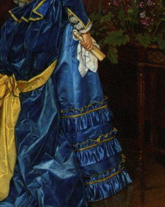 Auguste Toulmouche (1829-1890) The Blue Dress (detail)