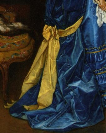 Auguste Toulmouche (1829-1890) The Blue Dress (detail)