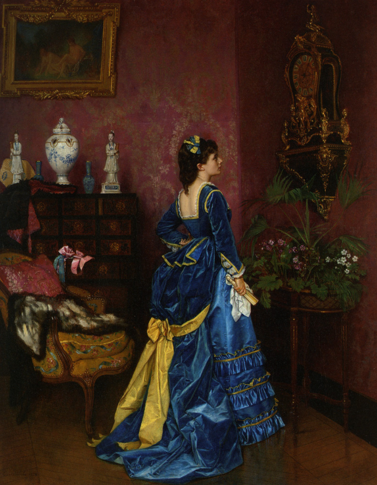 Auguste Toulmouche (1829-1890) The Blue Dress