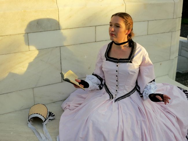 The 1860s Greek Key afternoon dress thedreamstress.com