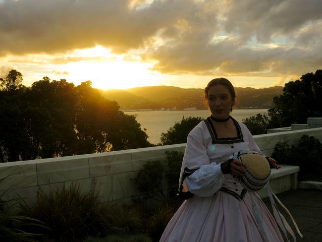 The 1860s Greek Key tea gown thedreamstress.com