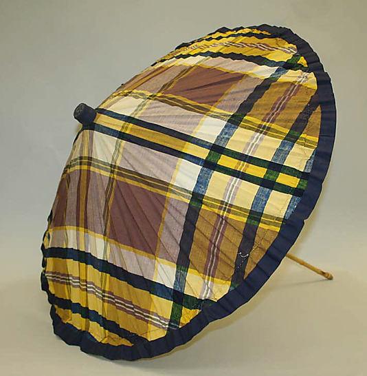 Parasol, 1920–39, American or European, cotton, bamboo, Metropolitan Museum of Art, 1976.37.42
