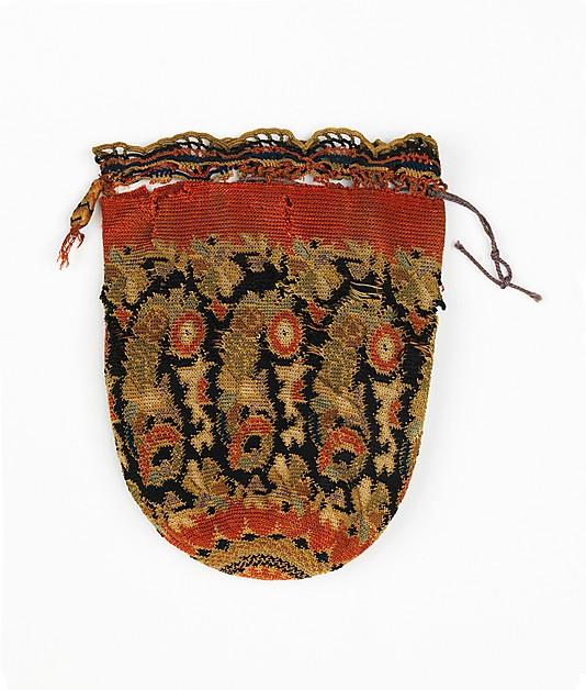 Pouch, 1840–60, European, Eastern, silk, Metropolitan Museum of Art, 2009.300.2070