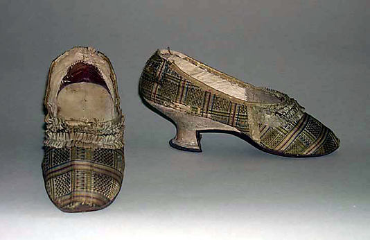 Shoes, 1780, American or European, silk, Metropolitan Museum of Art,  C.I.39.13.58a, b