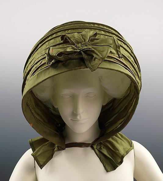 Calash, ca. 1790, American, silk, Metropolitan Museum of Art, 2009.300.2889