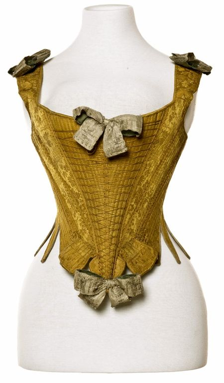 Stays, 1735-70, silk and cloth of silver, Les Arts Decoratif