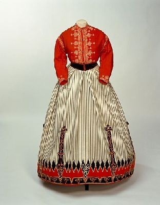 Croquet skirt, England, c1870, 1947.505, Manchester City Galleries