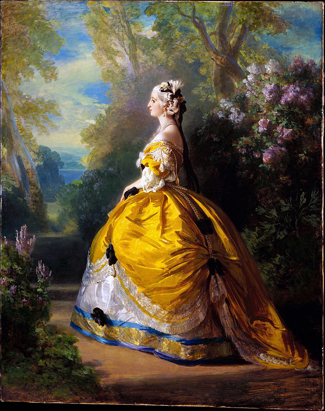 Empress Eugénie as Marie-Antoinette, 1854, Franz Xaver Winterhalter