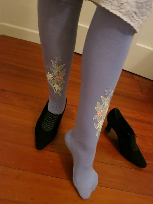 1870s Manet's Nana inspired stockings thedreamstress.com