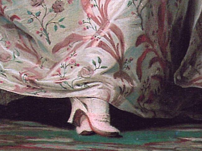 Madame de Pompadour, by Maurice Quentin de La Tour, 1755, Louvre Museum (detail)