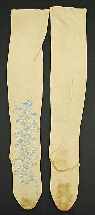 Stockings, late 18th century, American or European, cotton, Metropolitan Museum of Art,  CI42.90.2ab