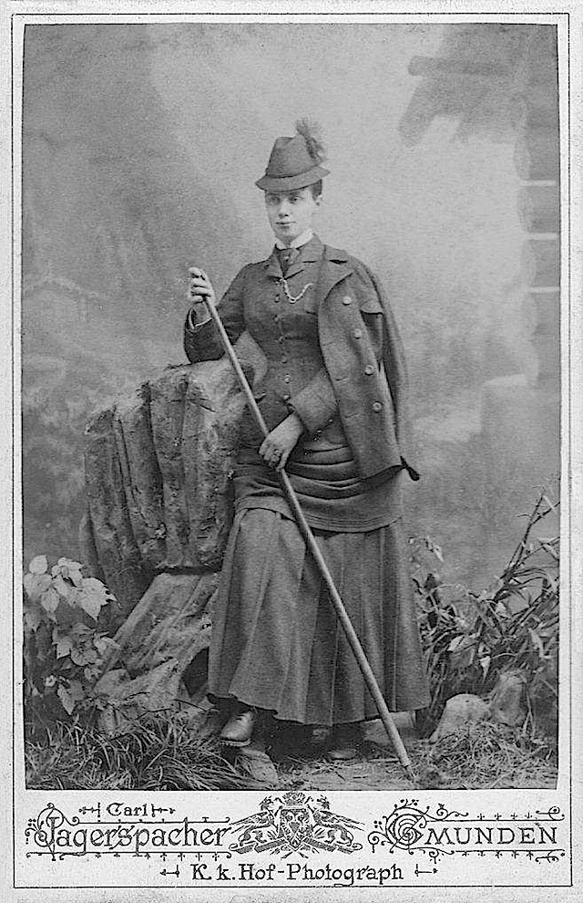Thyra of Denmark in mountaineering dress