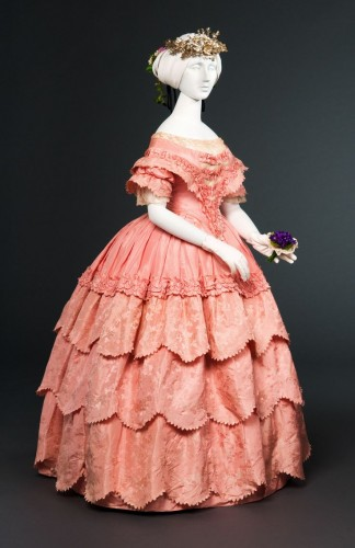 Ballgown, silk, 1854-56 (Collection?)