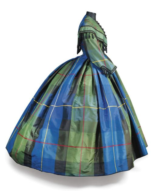 Day dress, silk, 1860s, sold at Christies